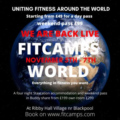 Click here to book FitCamps World Live at Ribby Hall November 5th-7th